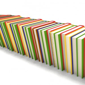 hard cover books in attractive colors