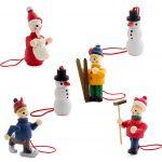 Juego de figuras decorativas madera para Navidad