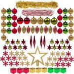 100 piezas de bolas para el árbol de Navidad
