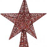Estrella para árbol de Navidad brillante rojo